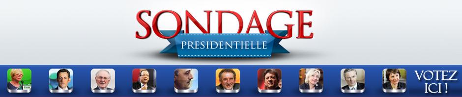 Sondage Présidentielle 2012